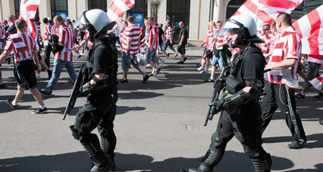 Fans Shut Out of Cracovia Stadium