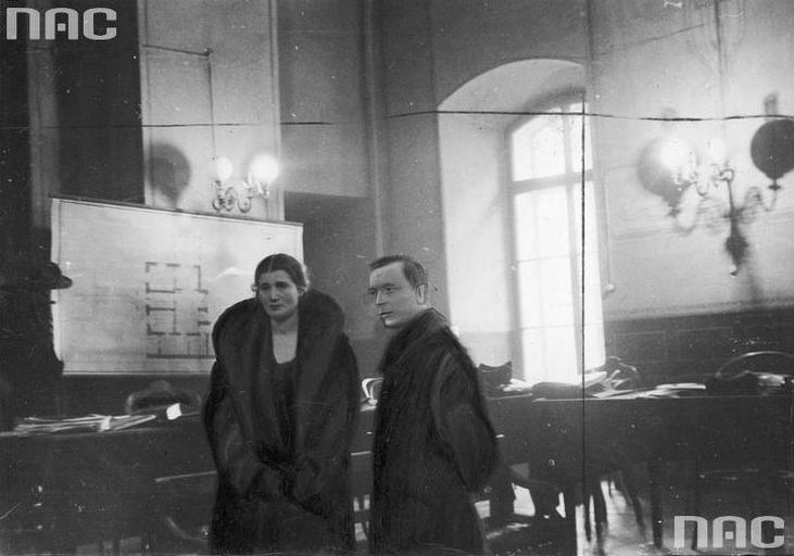 Gorgonowa with her attorney, Mieczysław Ettinger, during the 1933 trial