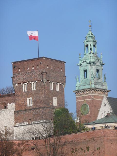 Polish flag at Wawel