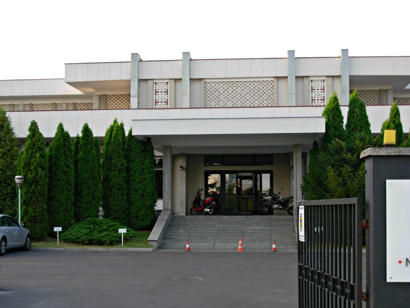 The North Korean embassy in Warsaw
