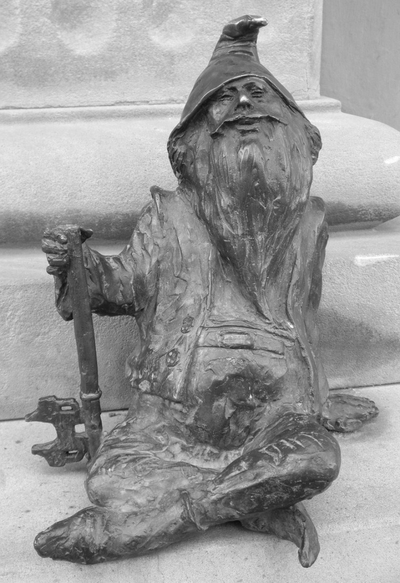 One of Wrocław's many gnome statues
