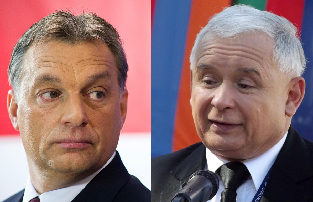 Orban (L) and Kaczynski