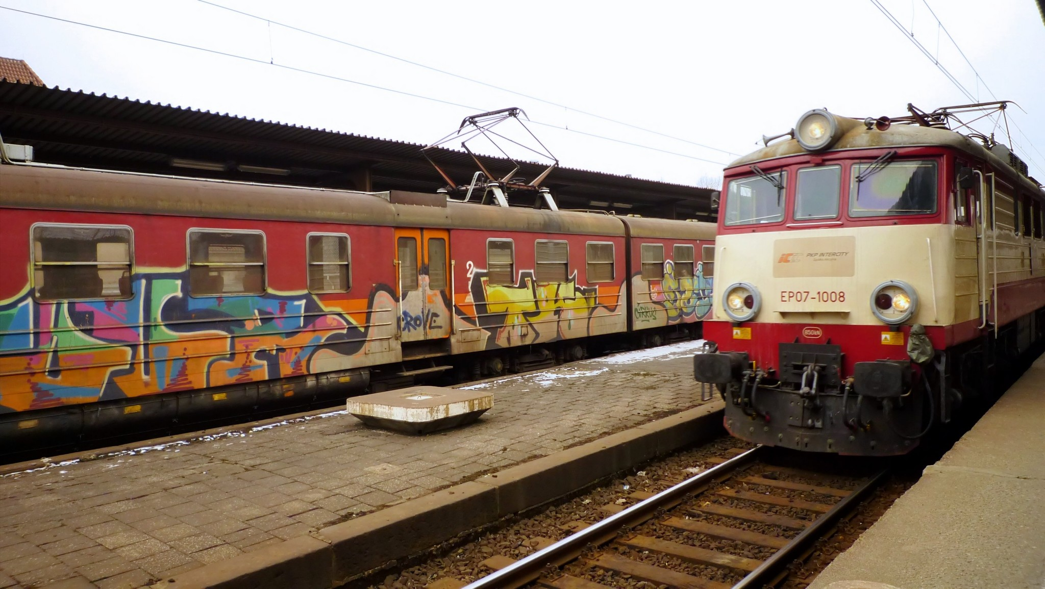 Typical Polish trains