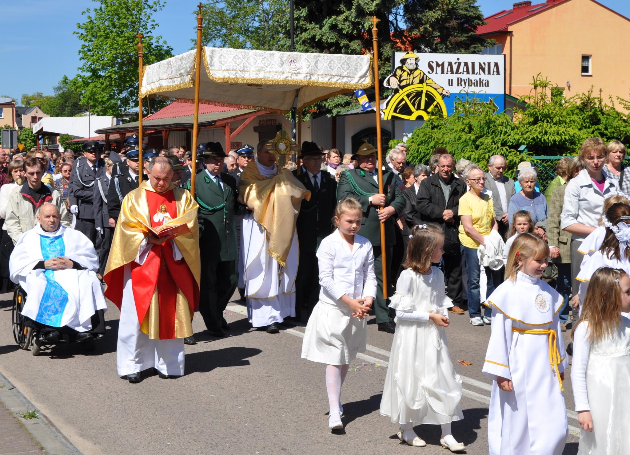 Corpus Christi parade Poland
