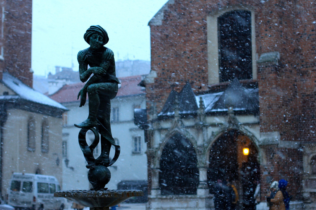 Snow in Krakow