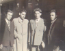 Joseph Sarna, the author's grandfather (far left) and his brothers, after liberation from Nazi concentration camps