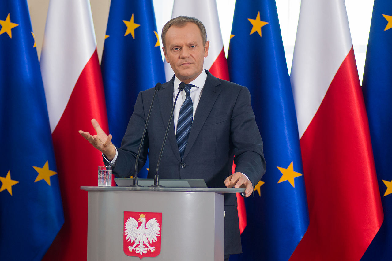 Former Polish PM Donald Tusk, seen here in 2014, was reelected as President of the European Council despite opposition from his former rivals at home