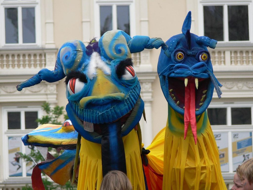 Dragons invade Krakow in annual parade