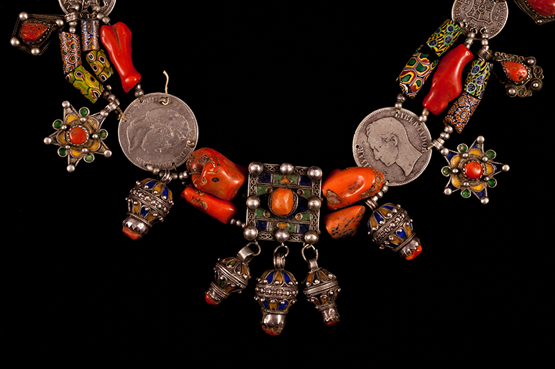 A traditional necklace made by a woman of the Kabyle nation
