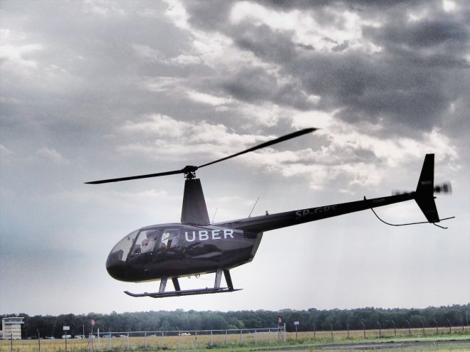 The much-hyped Uber helicopter canceled its visit to Krakow last Wednesday due to rain