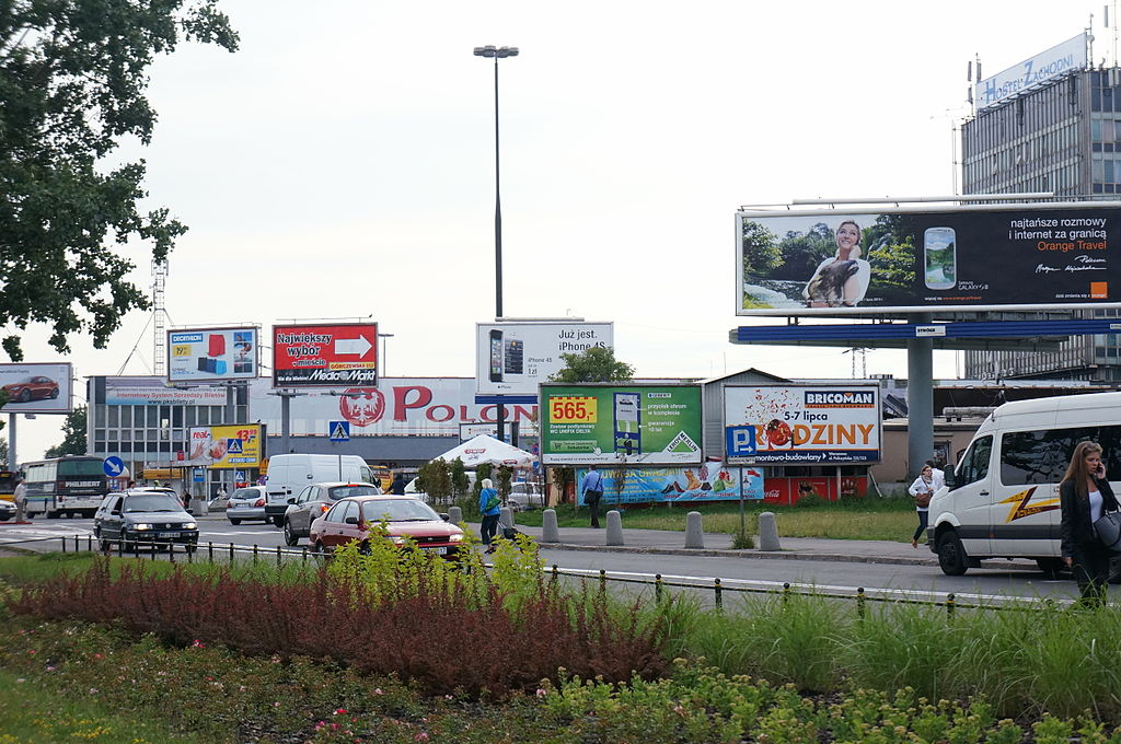 Polish roadside adverts