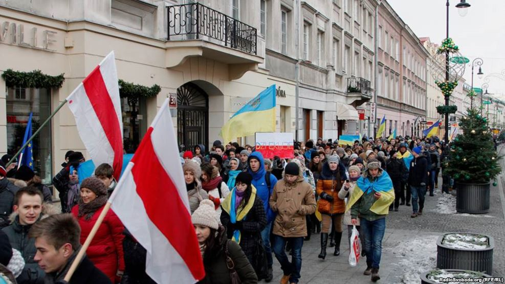 Ukrainians in Warsaw in 2013 (RadioSvoboda)