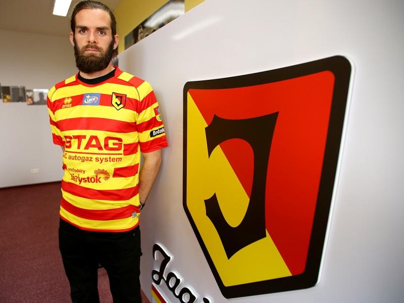 Jagiellonia's striker from Ireland, Cillian Sheridan (phot. Jagiellonia)