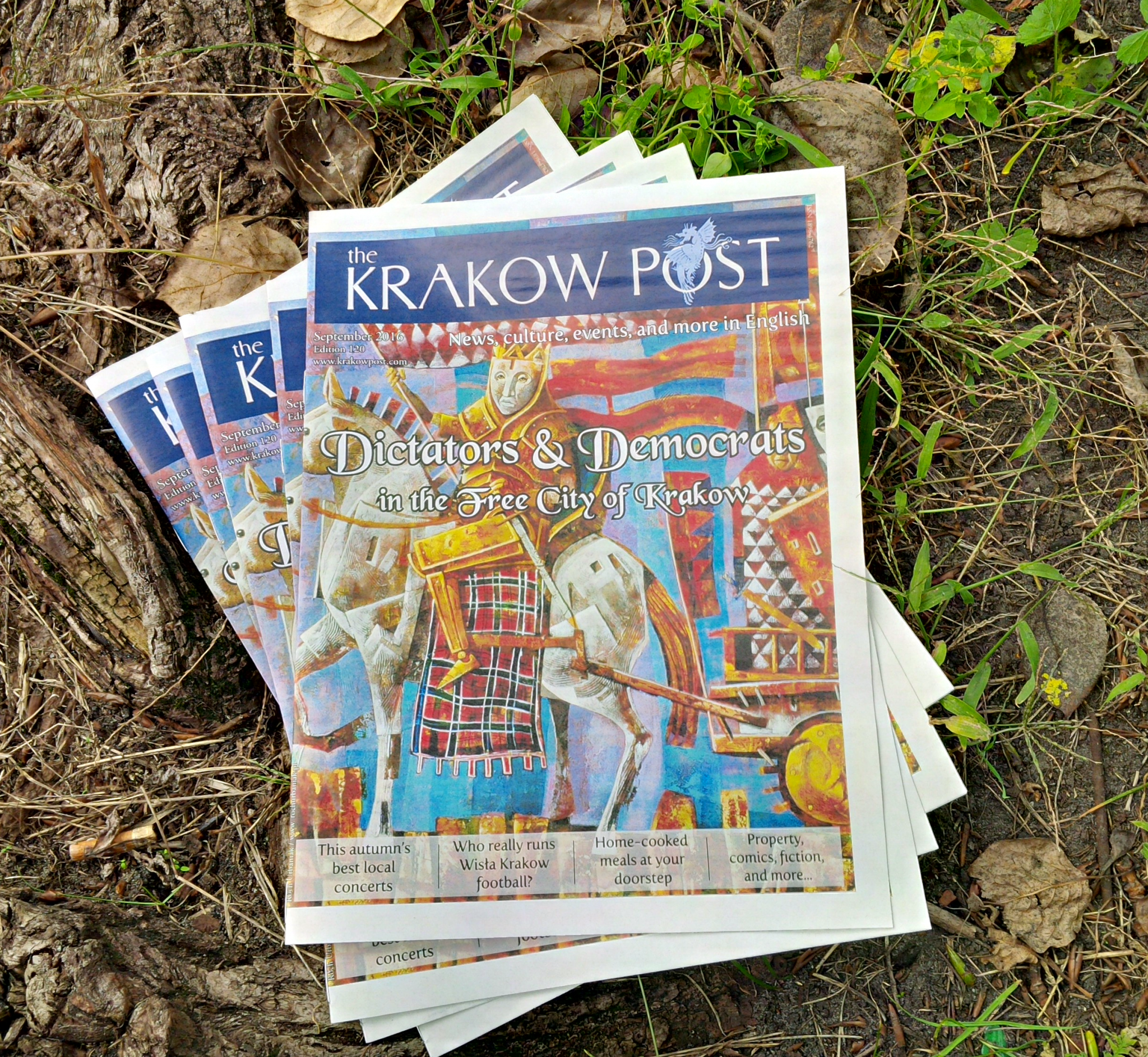 'Fianna' by Roch Urbaniak, inspired by warriors of Irish mythology, was featured on the 120th print edition of The Krakow Post