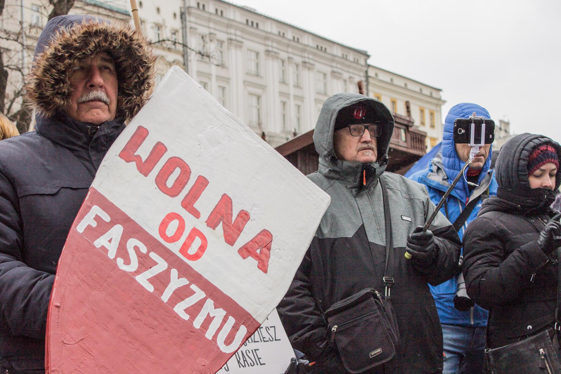 """Free from fascism"" (phot. Michał Sadowski)"
