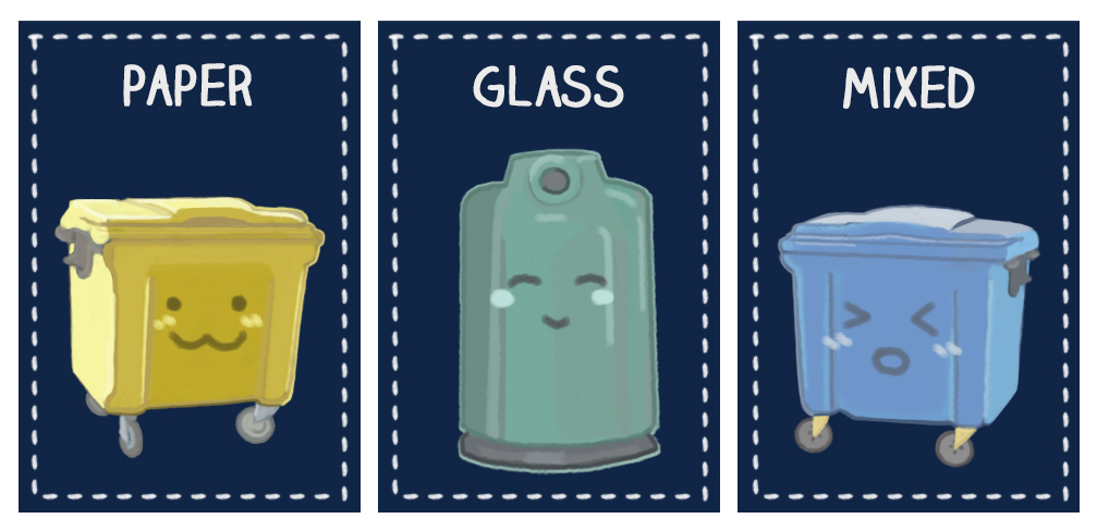 Know your Krakow bin colors! (graphic by Agata Pankow)