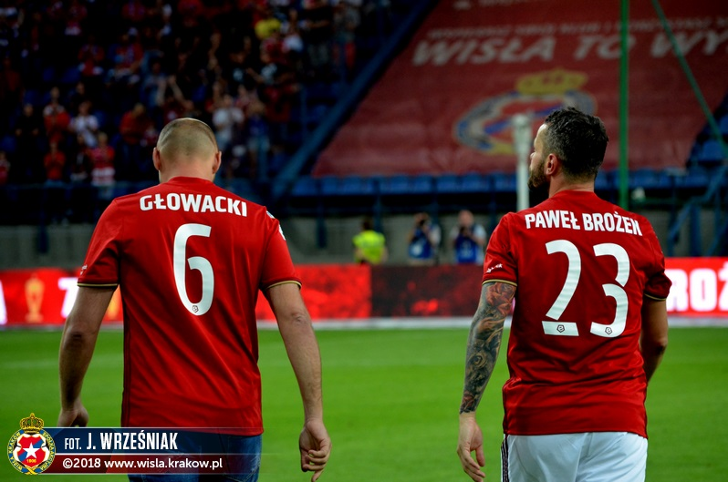 Glowacki and Brozek for the last time as Wisła players