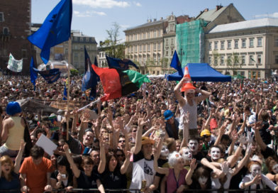 A 2009 Juvenlia on Krakow's Main Square (phot. KSAF AGH Krakowska Studencka Agencja Fotograficzna AGH)