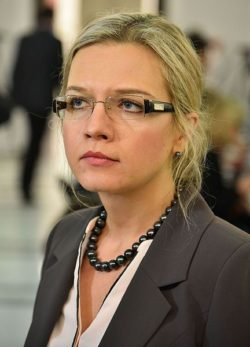 Małgorzata Wassermann, pictured here in 2016, is expected to be Majchrowski's toughest challenger (phot. Adrian Grycuk)