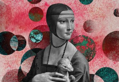A promotional version of Leonardo's Lady with an Ermine created by the National Museum in Krakow for last year's Museum Night