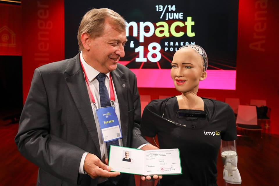 Sophia becomes a student of Krakow's AGH University of Science and Technology (phot. ImpactCEE)