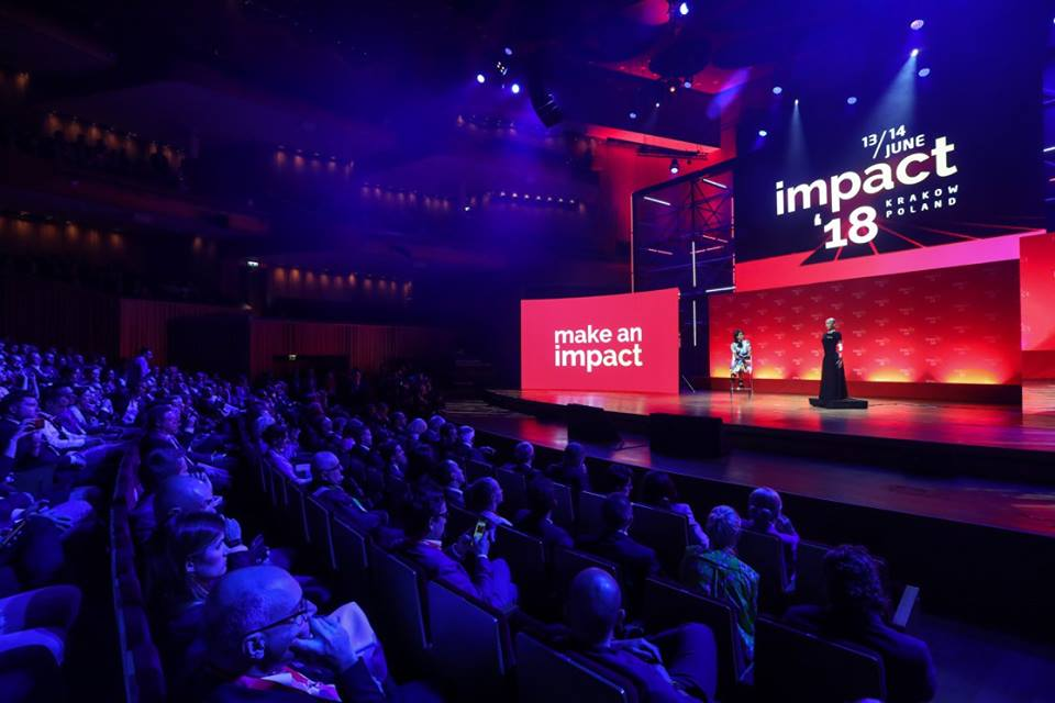 Sophia takes the stage (phot. ImpactCEE)