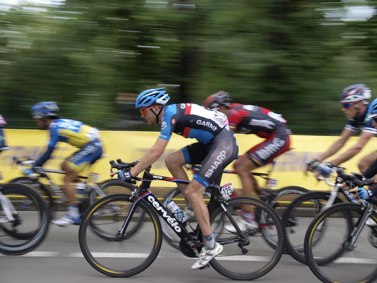 Riders race in the Tour de Pologne 2012