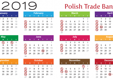 When will Polish shops be closed in 2019?
