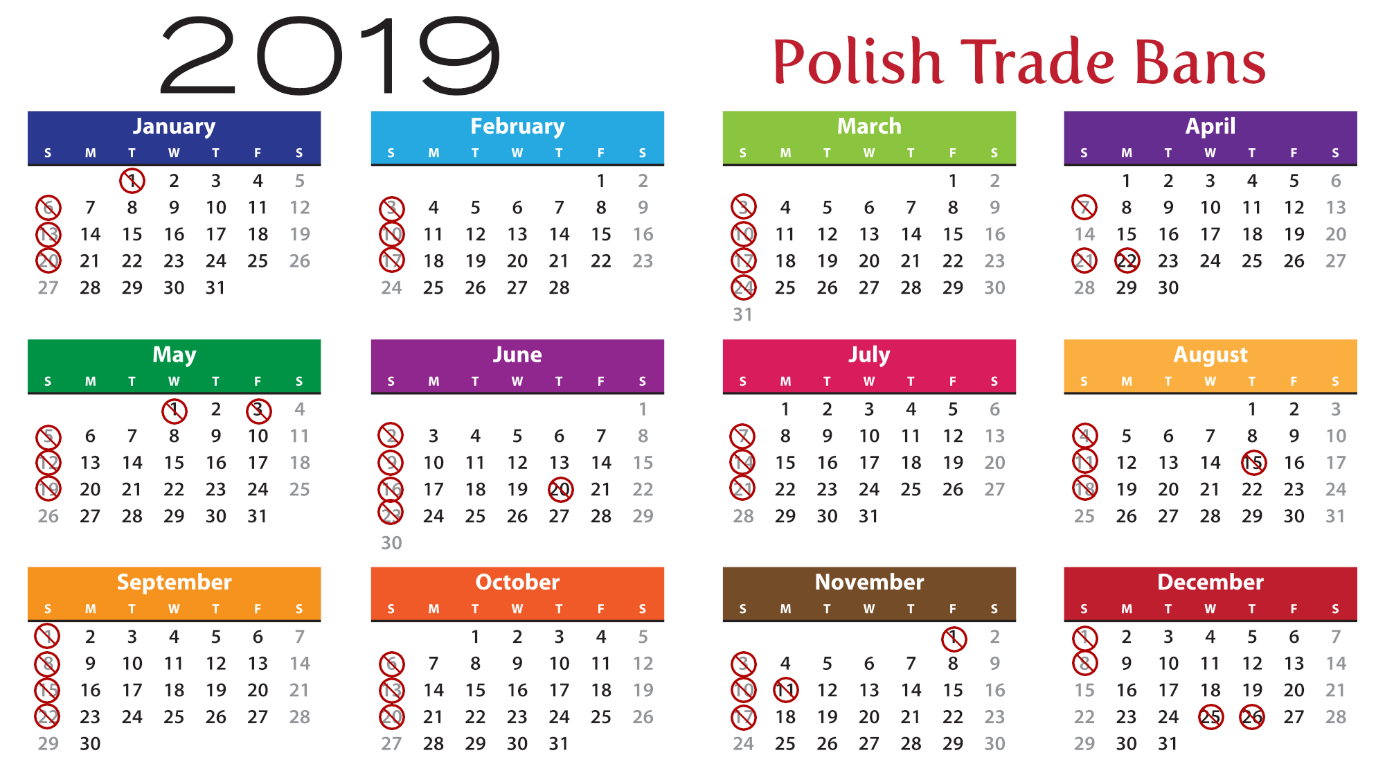 Calendrier Election 2019.When Will Polish Shops Be Closed In 2019 The Krakow Post
