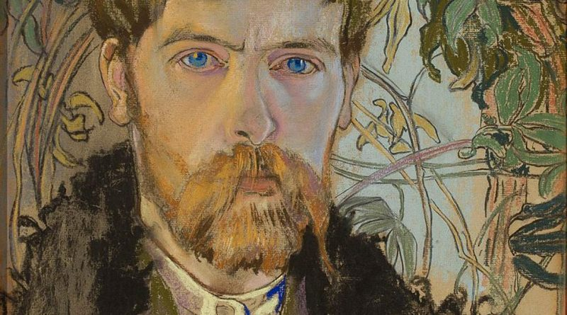Detail of a self-portrait by Stanisław Wyspiański