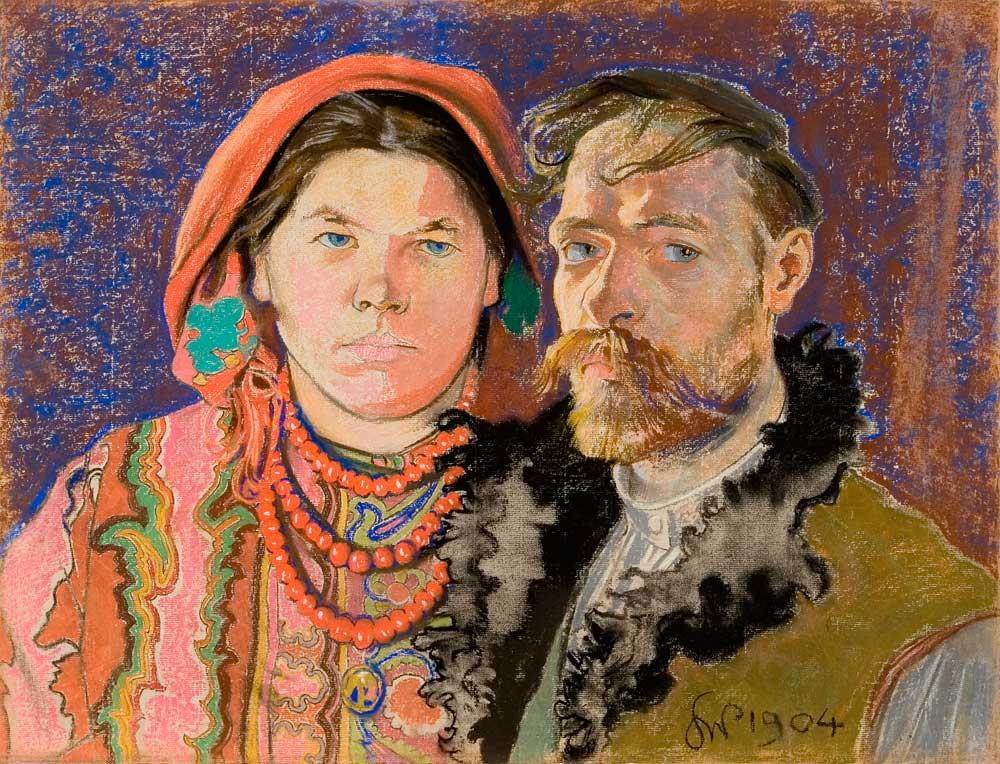 Stanisław Wyspiański, Self-Portrait with Wife, 1904