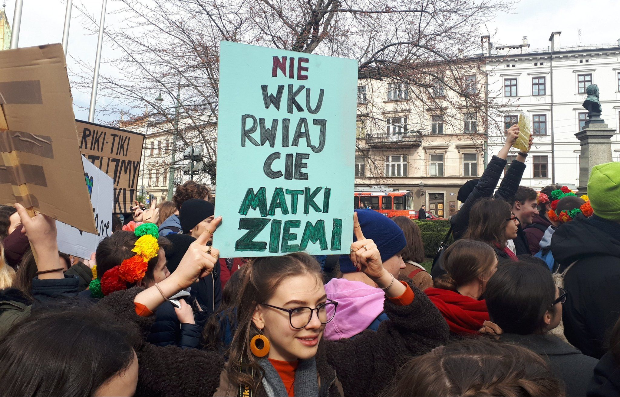 """DON'T PISS OFF MOTHER EARTH"" (phot. Razem Krakow)"