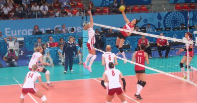 The final match between Poland and Turkey in the 2015 European Games women's volleyball