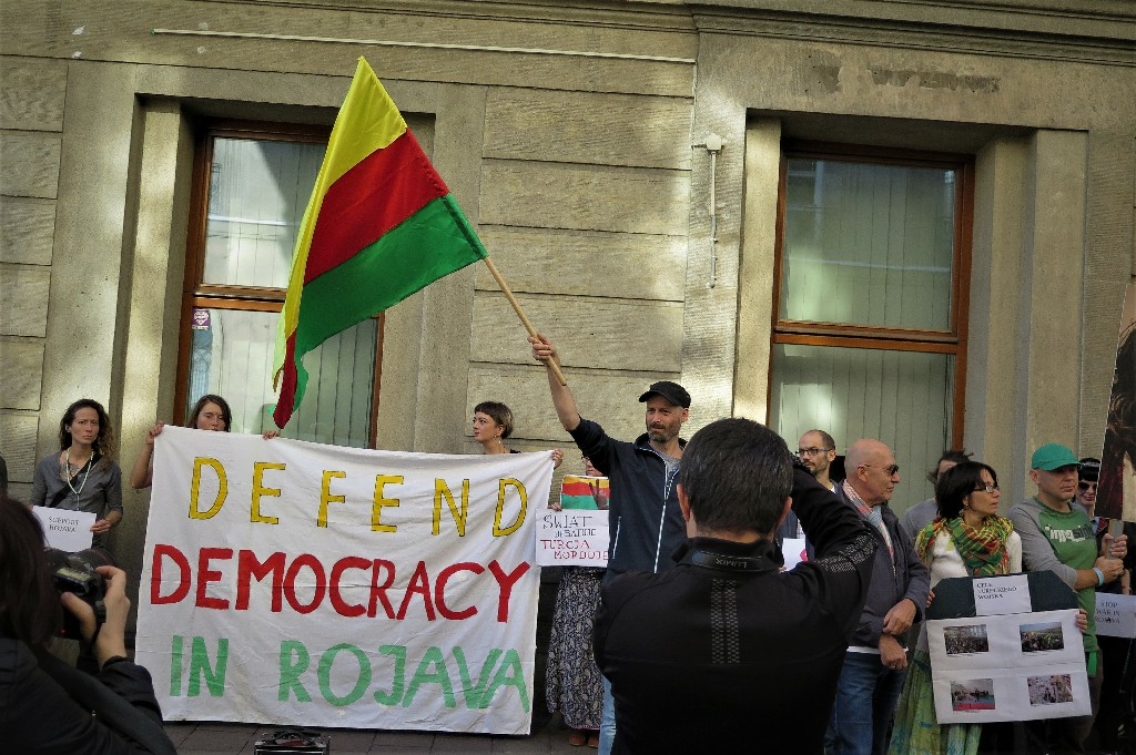 (All photos by Jacek Graff, from a demonstration last Saturday in Krakow)