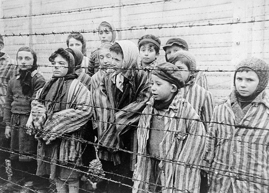 Children prisoners at Auschwitz