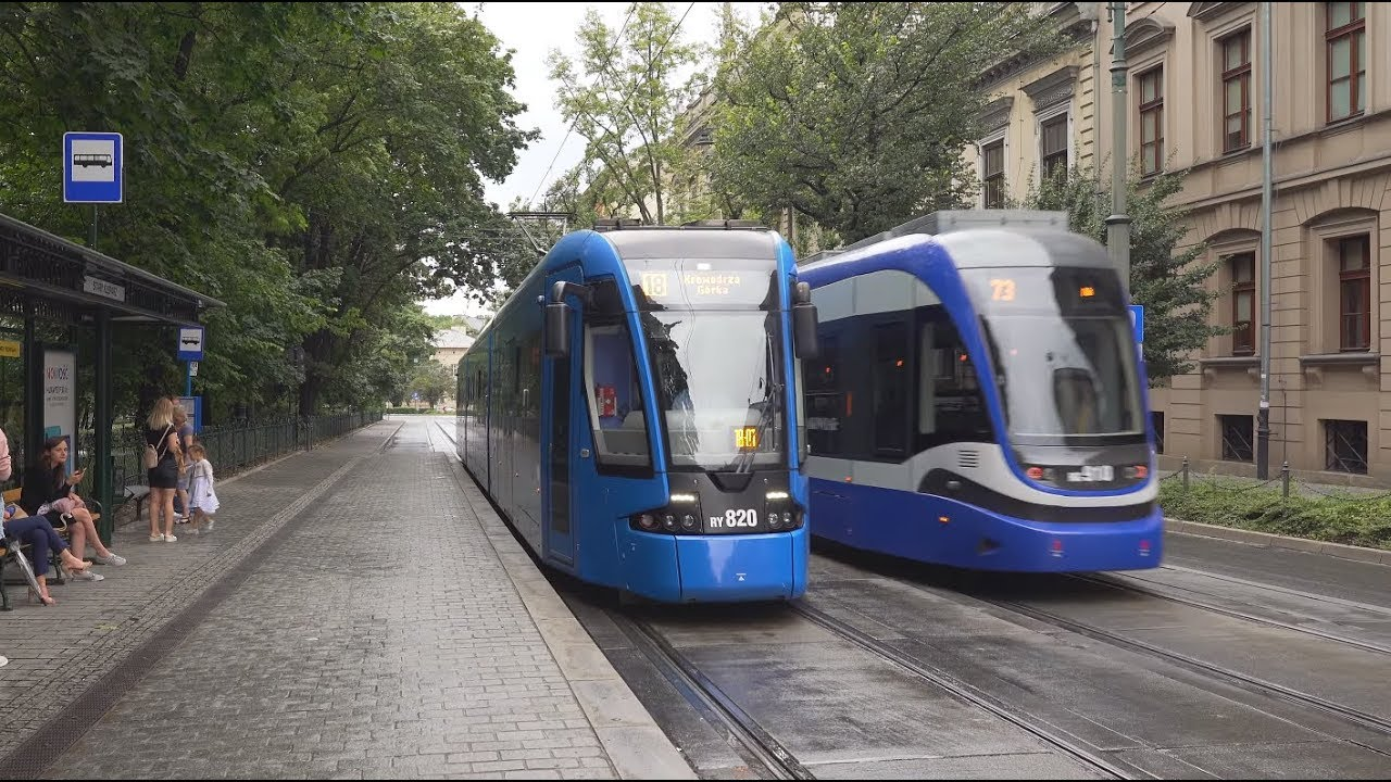 The driverless tram was tested on the route of #18, pictured here