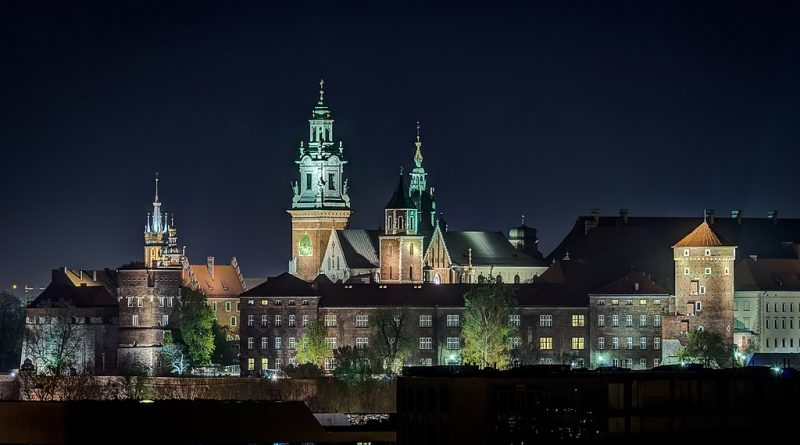 Wawel Royal Castle at night (phot. Jarek Ciurus)