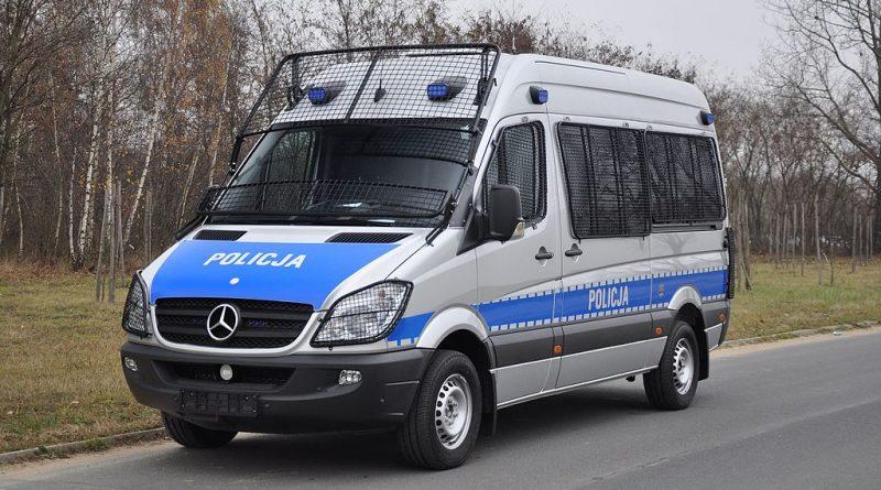 A Polish police van (phot. Karol Szadkowski)