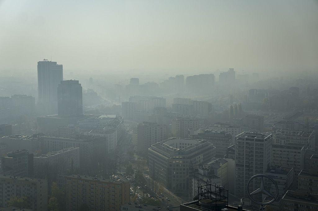 Warsaw shrouded in smog (phot. Radek Kołakowski)
